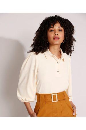 City Mulher Camisa Formal - Camisa Polo Feminina Manga Bufante