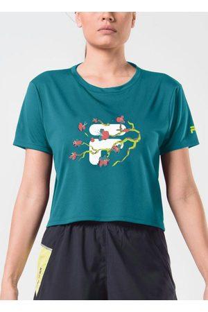Fila Camiseta Cropped Flower Petróleo