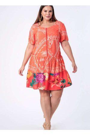Munny Vestido Almaria Plus Size Curto Estampado La