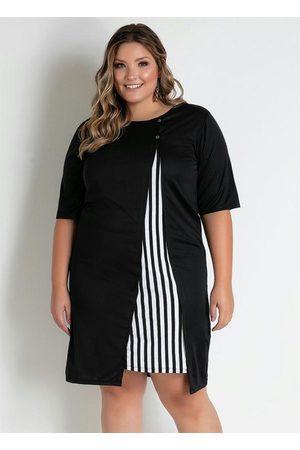 Marguerite Vestido Curto com Recorte Plus Size