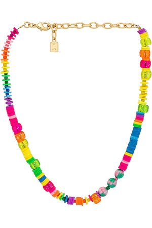Dannijo Bahama Necklace in Pink,Metallic Gold.
