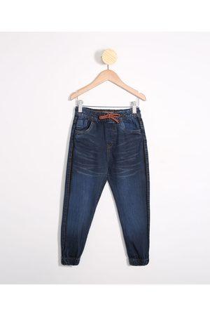 PALOMINO Calça Infantil Jeans Jogger com Faixa Lateral Médio