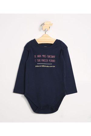 """Baby Club Menina Body - Body Infantil Falecom@dinda.com.br"""" Manga Longa Decote Redondo """""""
