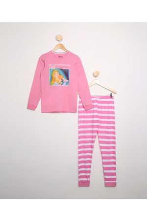 Disney Pijama Juvenil Bela Adormecida Manga Longa Rosa