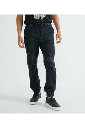 Blue Steel Calça Jogger em Jeans Destroyed | | | P