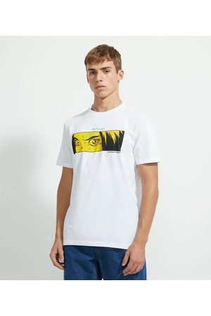 Blue Steel Homem Camisolas de Manga Curta - Camiseta Manga Curta com Estampa | | | GG