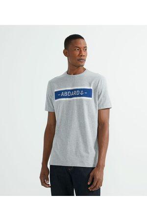 Marfinno Camiseta Manga Curta com Estampa Lettering Aboard | | | GG