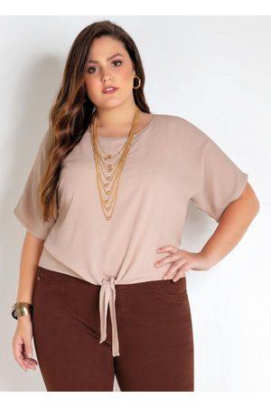 Mink Blusa Plus Size com Amarração
