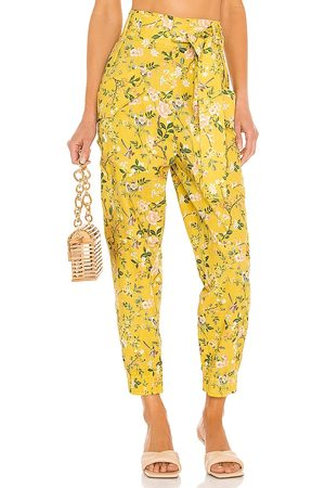 AMUR Lisette Cargo Pant in Mustard. - size L (also in M, S, XS)