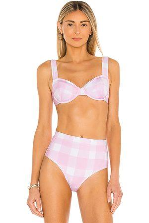 Solid Lilo Bikini Top in Blush. - size L (also in M, XS)