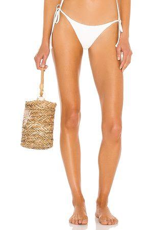 Frankies Bikinis Sky Ribbed Bikini Bottom in . - size L (also in M, S, XS)