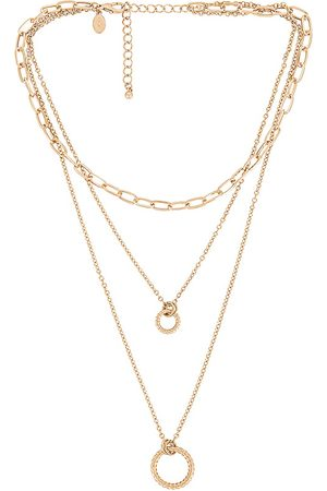8 Other Reasons Colares - Circle Layer Necklace in Metallic .