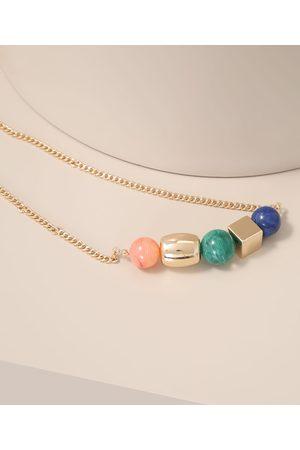 C&A Mulher Colares - Colar Feminino com Pedras Coloridas