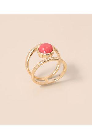 C&A Mulher Anéis - Anel Duplo com Pedra Oval