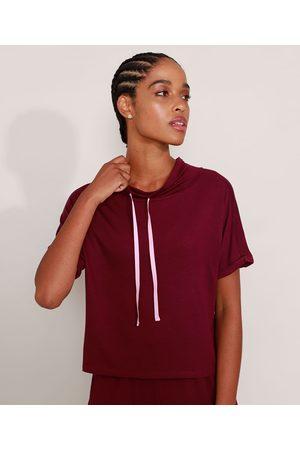 ACE Mulher Camiseta - Camiseta Esportiva Manga Curta Gola Alta com Cadarço