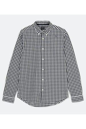 Preston Field Homem Camisa Manga Comprida - Camisa Slim Manga Longa Xadrez | | | M