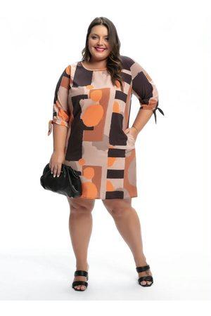 Mink Mulher Vestidos - Vestido Plus Size Geométrico Clássico