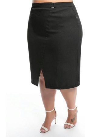 Mink Mulher Minissaia - Saia Plus Size Preta com Regulador na Cintura