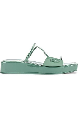 Jeffrey Campbell Mulher Sandálias - Atumano Flatform Sandal in Sage. - size 10 (also in 6, 6.5, 7, 7.5, 8, 8.5, 9, 9.5)