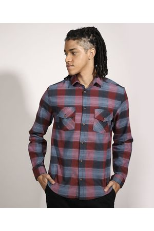 Suncoast Homem Camisa Casual - Camisa Tradicional Estampada Xadrez Manga Longa Multicor