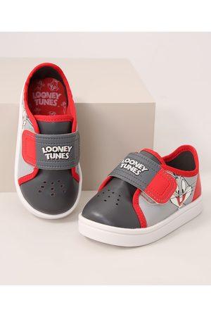 GRENDENE Menino Tênis - Tênis Infantil Looney Tunes com Velcro