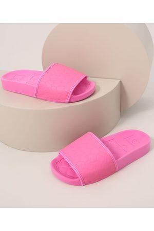 MOLEKINHA Chinelo Slide Infantil Matelassê Pink