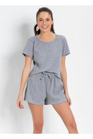 Alma Dolce Pijama de Malha Canelada Mescla