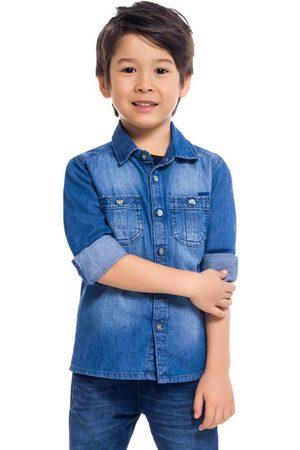 MILON Camisa Infantil Masculina Marinho