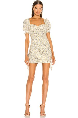 Bardot Cindy Sweetheart Dress in Yellow. - size L (also in S, XS, M)