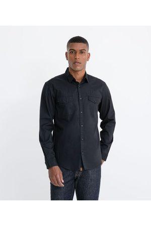 Marfinno Camisa em Sarja com Bolsos | | | M