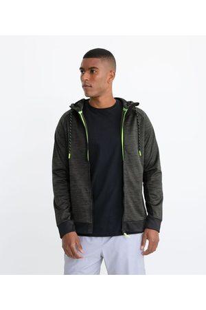 Get Over Homem Casacos - Blusão Esportivo com Detalhes Neon e Capuz       P
