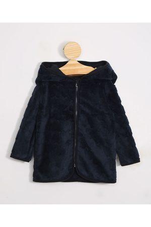 BABY CLUB Menina Casacos - Blusão Infantil de Fleece Texturizado de Corações com Capuz