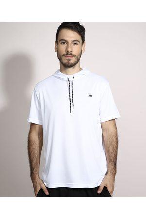ACE Homem Camisolas de Manga Curta - Camiseta Esportiva com Capuz Manga Curta Branca