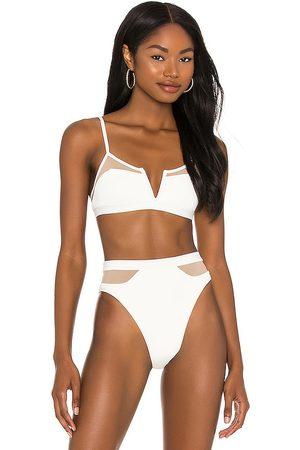 L*Space Sadie Bikini Top in Ivory. - size L (also in M, S, XS)