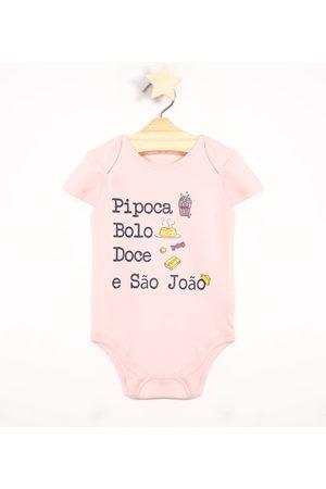 "BABY CLUB Body Infantil São João"" Manga Curta Decote Redondo Claro"""