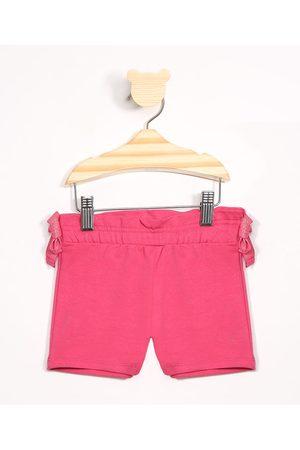 BABY CLUB Short Infantil de Moletom com Laço Pink
