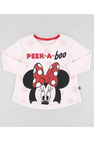 "Disney Blusa Infantil Minnie Peek-a-Boo"" Manga Longa Claro"""