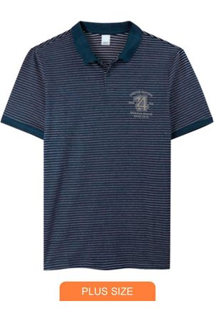 Wee Malwee Camisa Marinho Polo em Malha Listrada
