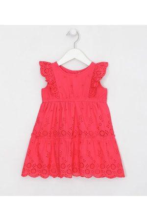 Póim (1 a 5 anos) Vestido Infantil Detalhe de Guipir e Babados - Tam 1 a 5 anos | | | 01