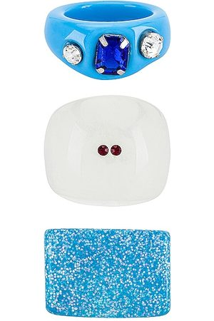 8 Other Reasons Acrylic Ring Set in Blue.