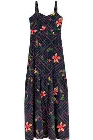 ENFIM Vestido Longo Floral em Algodão