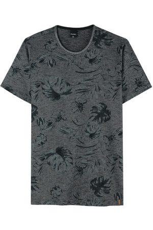 Malwee Camiseta Mescla Tradicional Folhagens em Malha