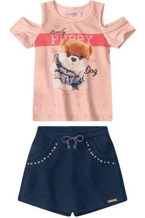 CARINHOSO Conjunto Puppy em Moletom Menina