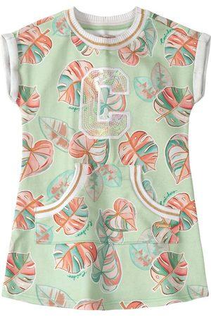 CARINHOSO Vestido Tropical em Moletom