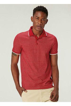 Malwee Camisa Vermelha Polo Slim Listrada