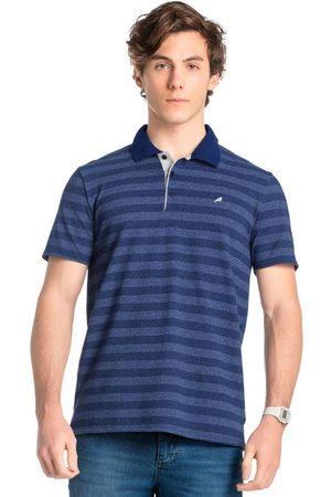 ENFIM Camisa Polo Listrada em Malha