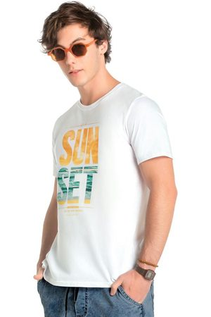 ENFIM Camiseta Branca Tradicional Sun Set