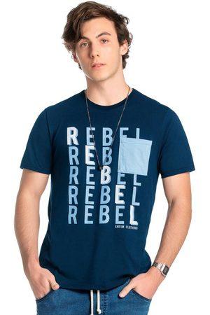ENFIM Camiseta Marinho Tradicional Rebel