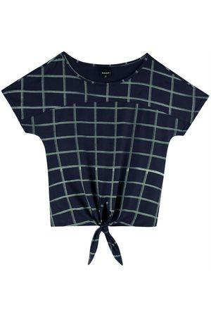 Malwee Blusa Quadriculada com Amarração