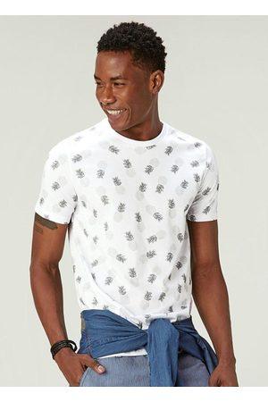 Malwee Camiseta Branca Tradicional Abacaxis